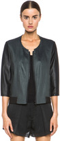 Helmut Lang Twill Bomber Jacket in Midnight Pearl