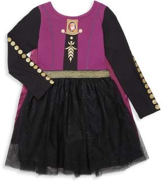 Disney Little Girl's Frozen Cape Cotton-Blend Tulle Dress