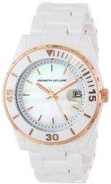 Kenneth Jay Lane Women's KJLANE-3003 3000 Series White Ceramic Bracelet Watch