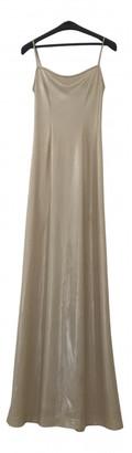 Plein Sud Jeans Ecru Synthetic Dresses