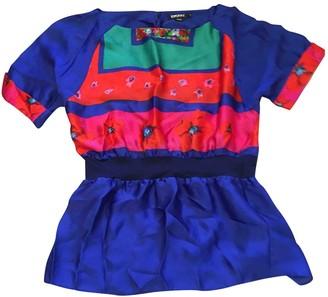 DKNY Blue Silk Top for Women