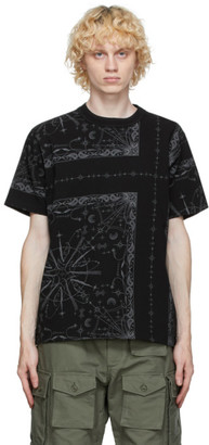 Sacai Black Dr. Woo Edition Bandana T-Shirt