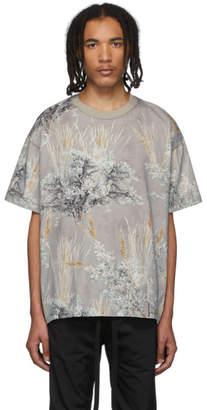 Fear Of God Grey Printed Short Sleeve T-Shirt