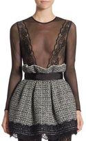 Faith Connexion Mesh Lace Bodysuit