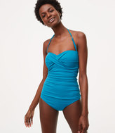LOFT Beach Twist One Piece Swimsuit
