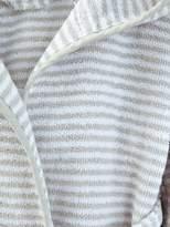 Striped Bathrobe with Hood - yellow/white, Furniture & Bedding | Vertbaudet