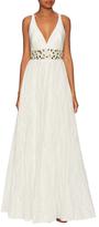 Nicole Miller Zoe Metallic Taffeta Dress