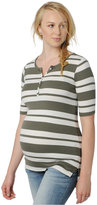 A Pea in the Pod Maternity Striped Henley T-Shirt