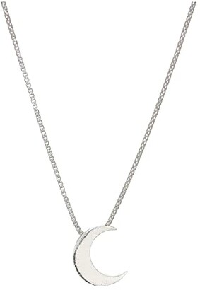 Alex and Ani 18 Moon Adjustable Necklace (Sterling Silver) Necklace
