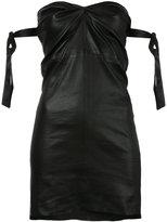RtA fitted strapless dress - women - Lamb Skin/Silk - XS