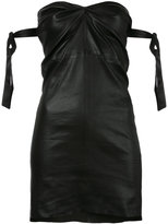 RtA fitted strapless dress - women - Silk/Lamb Skin - XS