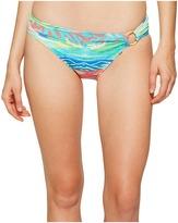 Lauren Ralph Lauren Ikat Stripe Ring Hipster Bottom Women's Swimwear
