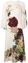 Valentino 'Kimono 1997' cape back dress - women - Silk/Spandex/Elastane - 44