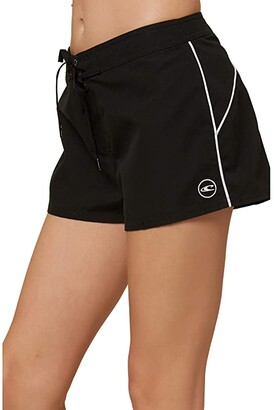 O'Neill 3 Saltwater Solids Boardshorts (Black) Women's Swimwear