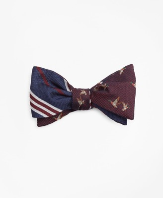 Brooks Brothers Flying Ducks with BB#1 Stripe Reversible Bow Tie