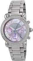 "JBW Women's JB-6210-F ""Victory"" Pink Stainless Steel Diamond Watch"