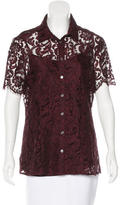 Burberry Lace Button-Up Top