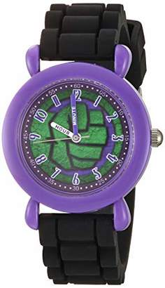 Marvel Boys' Hulk Analog Quartz Watch with Silicone Strap