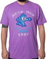 Freeze Men's Mega Man Running and Gunning Since 1987 Vintage T-Shirt Heather 2XL