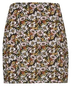 Dorothy Perkins Womens Lola Skye Multi Colour Split Mini Skirt, Multi Colour