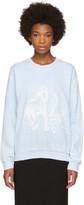 Baja East Blue Horses Sweatshirt