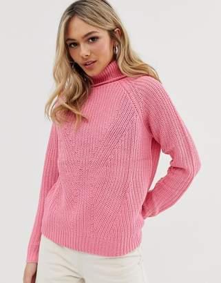 JDY Justy rollneck jumper-Pink