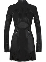 Thierry Mugler eyelet detail panelled dress