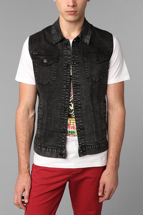 Kill City Acid-Washed Denim Vest