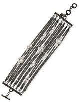 Armenta New World Multi-Strand Bracelet with Black Spinel