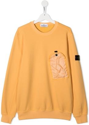 Stone Island Junior TEEN one pocket sweatshirt