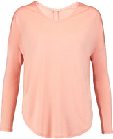 Halston Modal-jersey and crepe de chine top