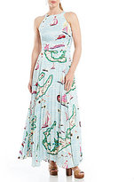 Eva Franco Octavia Printed Maxi Dress