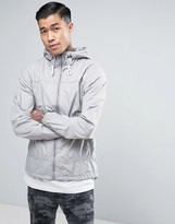 Pull&Bear Zip Through Hooded Jacket In Light Gray