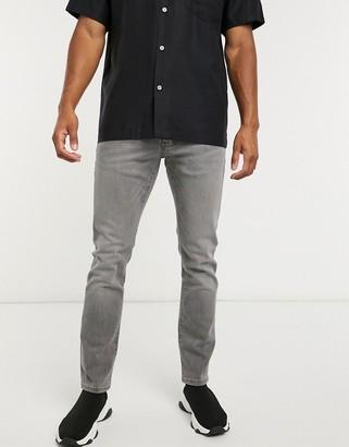 Topman slim jeans in gray