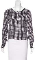 A.L.C. Silk Abstract Print Blouse w/ Tags