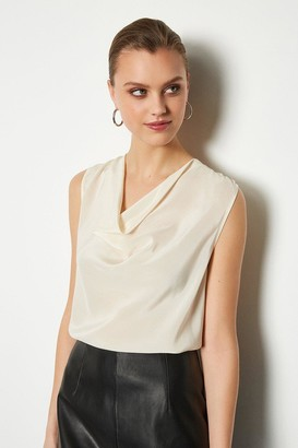 Karen Millen Silk Cowl Neck Top