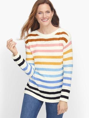 Talbots Slub Cotton Stripe Sweater