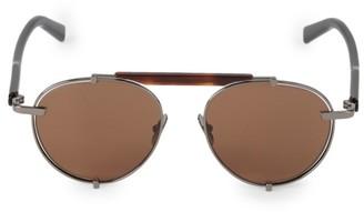 Salvatore Ferragamo Classic Logo Forward 52MM Aviator Sunglasses