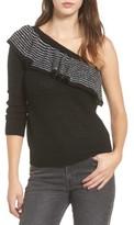 BP Women's Ruffle One-Shoulder Sweater