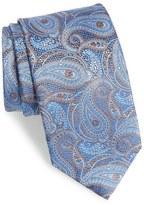 David Donahue Men's Paisley Floral Silk Tie