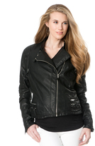 A Pea in the Pod Blank Nyc Zipper Detail Faux Leather Maternity Jacket