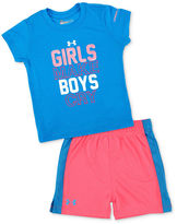 Under Armour Baby Set, Baby Girls 2-Piece Girls Make Boys Cry Tee and Shorts
