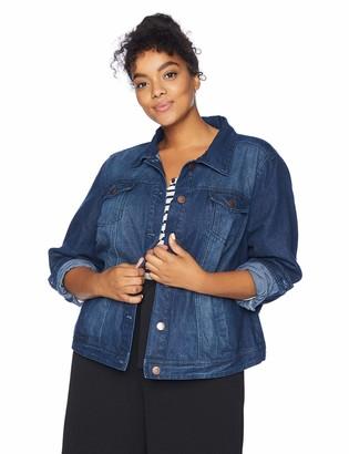 Dollhouse Women's Size Dark Plus Denim Jacket 4X