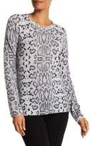 Equipment Sloane Cashmere Snake Print Sweater