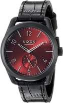 Nixon Men's A4591886 C39 Analog Display Swiss Quartz Black Watch