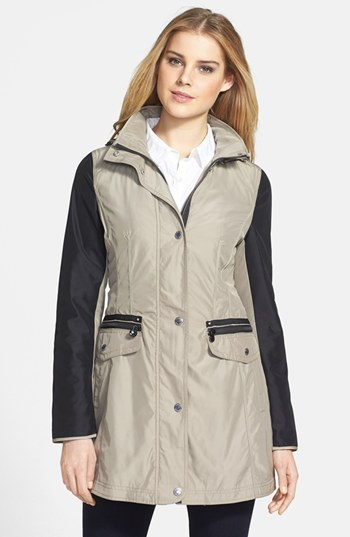 Laundry by Shelli Segal Two Tone Hooded Jacket