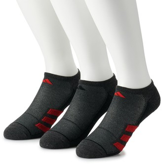 adidas Men's Superlite Stripe II 3-pack No-Show Socks