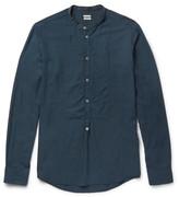 Massimo Alba - Kos Grandad-collar Twill Shirt