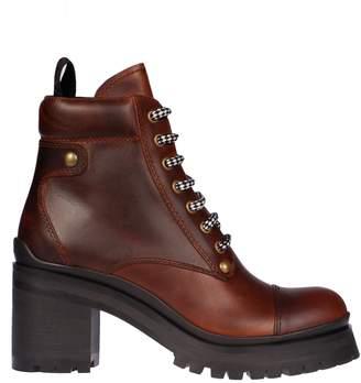 Miu Miu High Heel Lace-up Boots