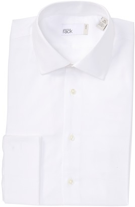 Nordstrom Rack Solid French Cuff Trim Fit Dress Shirt